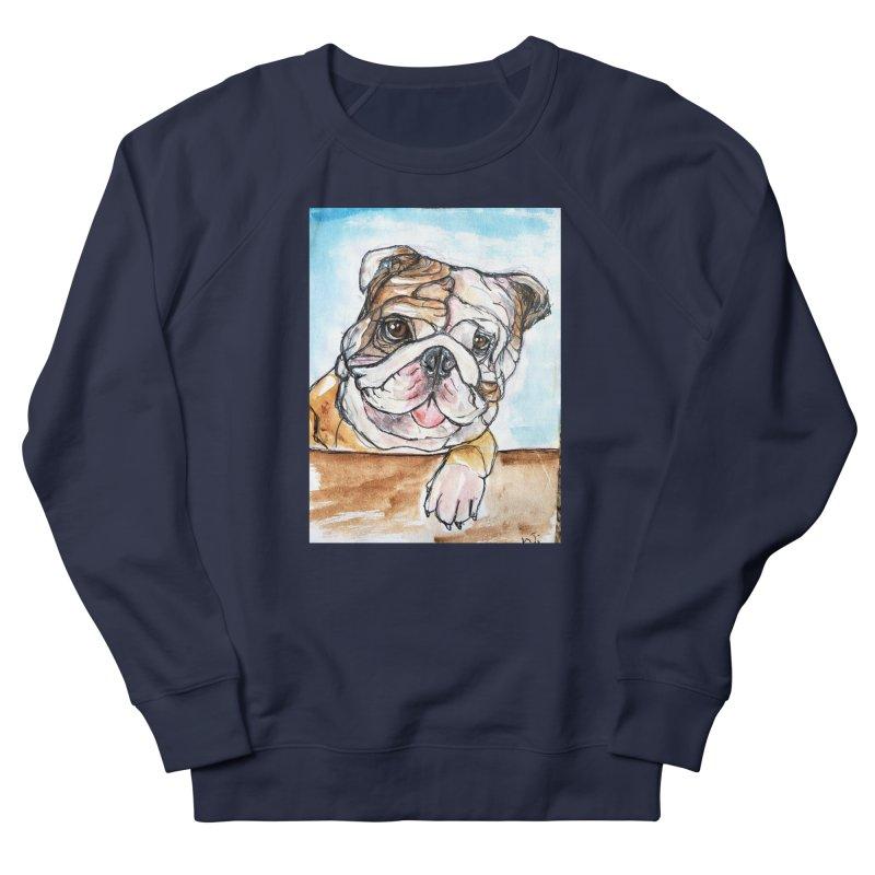 Bulldog Women's French Terry Sweatshirt by AlmaT's Artist Shop