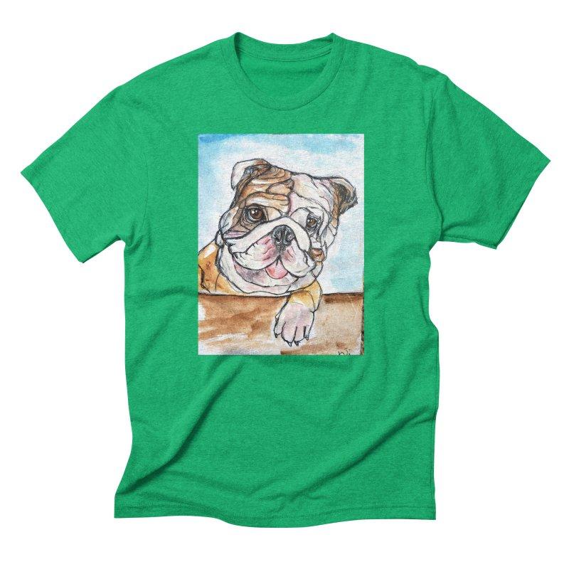 Bulldog Men's Triblend T-Shirt by AlmaT's Artist Shop