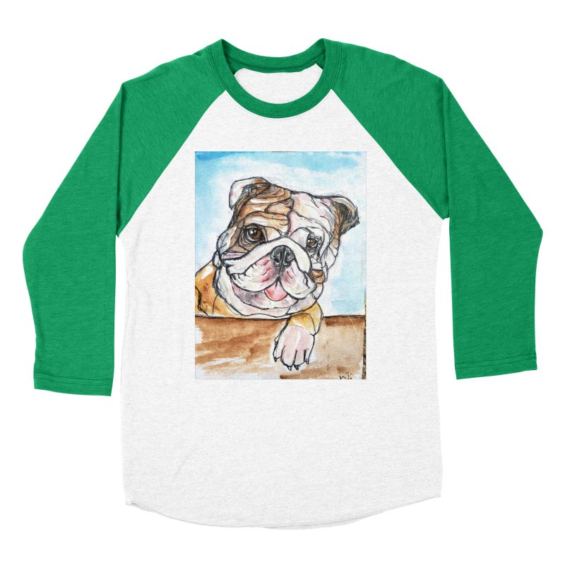Bulldog Women's Baseball Triblend Longsleeve T-Shirt by AlmaT's Artist Shop