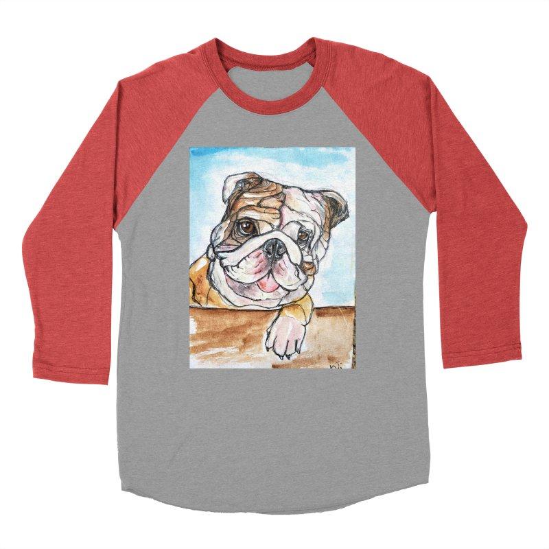 Bulldog Men's Baseball Triblend Longsleeve T-Shirt by AlmaT's Artist Shop