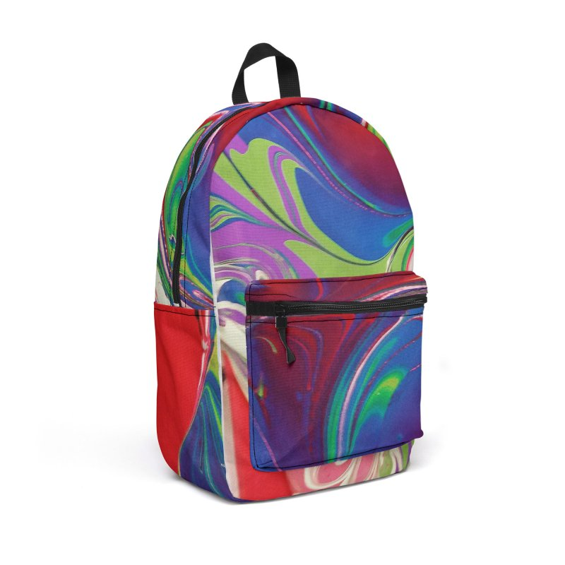 Water Drop Accessories Backpack Bag by AlmaT's Artist Shop