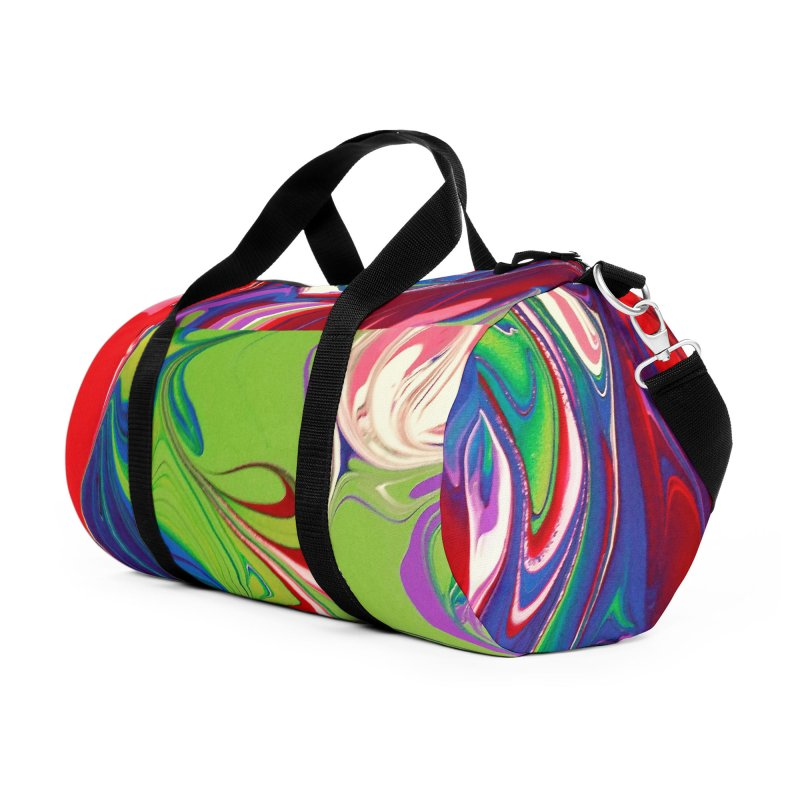 Water Drop Accessories Duffel Bag Bag by AlmaT's Artist Shop