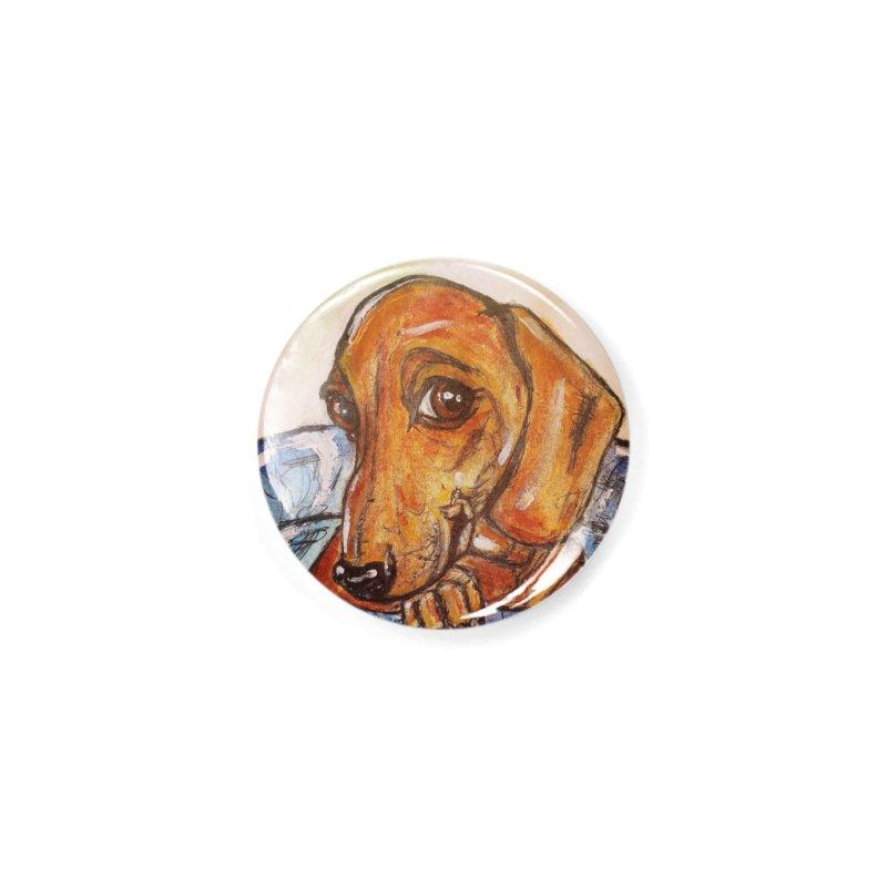 Dachshund  Puppy Accessories Button by AlmaT's Artist Shop
