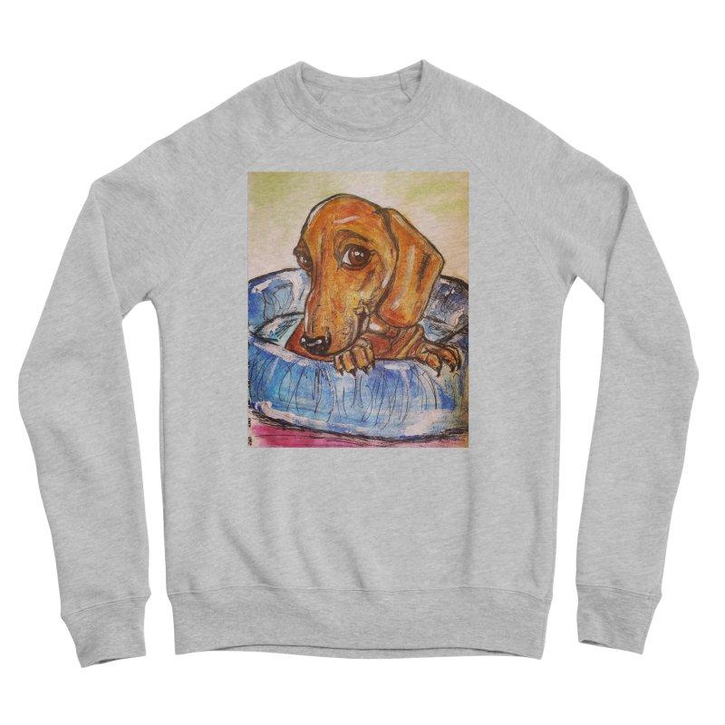 Dachshund  Puppy Women's Sponge Fleece Sweatshirt by AlmaT's Artist Shop
