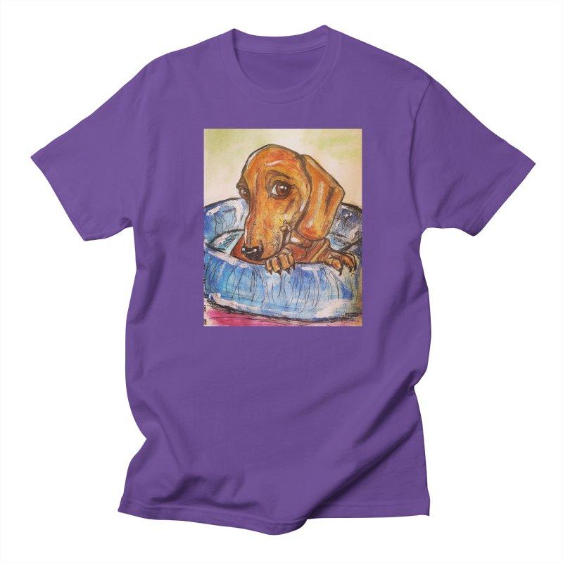 Dachshund  Puppy Women's Regular Unisex T-Shirt by AlmaT's Artist Shop