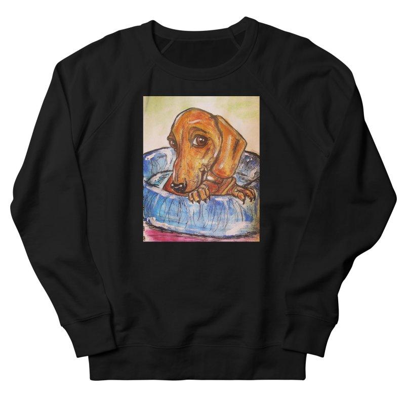 Dachshund  Puppy Women's French Terry Sweatshirt by AlmaT's Artist Shop