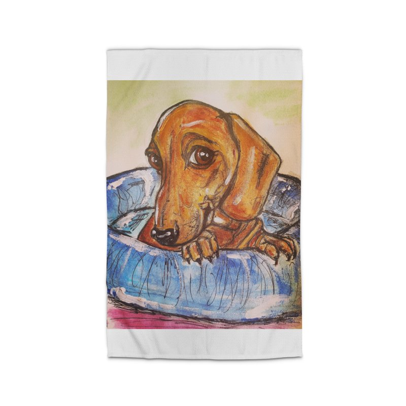Dachshund  Puppy Home Rug by AlmaT's Artist Shop