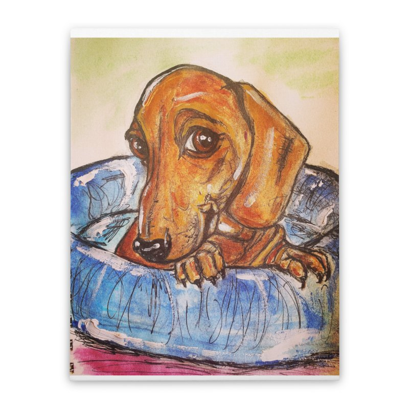 Dachshund  Puppy Home Stretched Canvas by AlmaT's Artist Shop