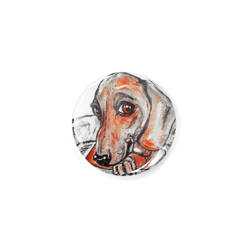 Dachshund  Puppy- Version 2 Accessories Button by AlmaT's Artist Shop
