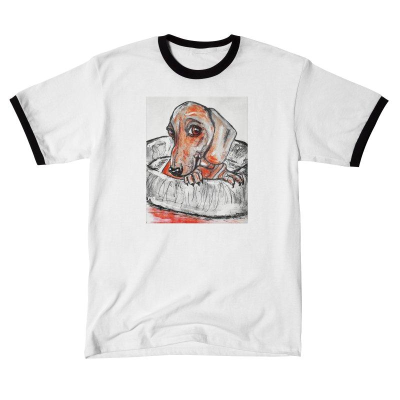 Dachshund  Puppy- Version 2 Men's T-Shirt by AlmaT's Artist Shop