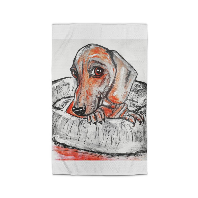 Dachshund  Puppy- Version 2 Home Rug by AlmaT's Artist Shop