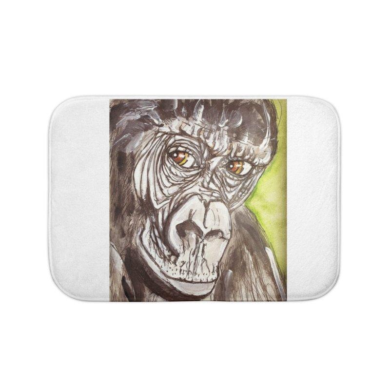 Gorilla Home Bath Mat by AlmaT's Artist Shop