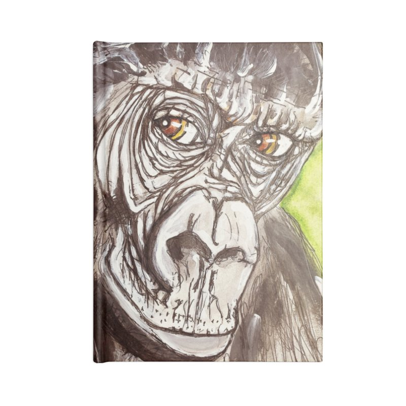 Gorilla Accessories Blank Journal Notebook by AlmaT's Artist Shop