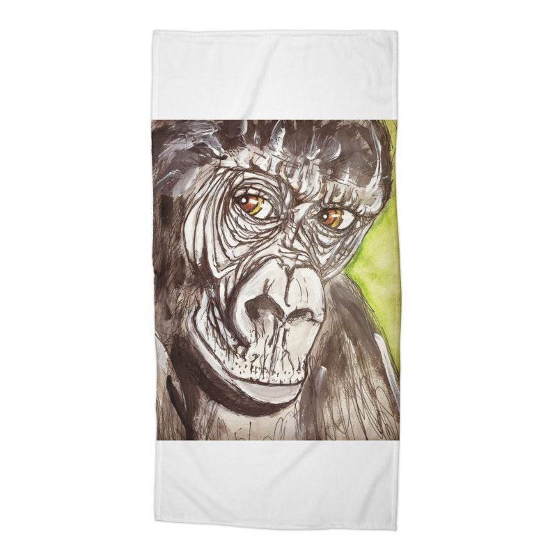 Gorilla Accessories Beach Towel by AlmaT's Artist Shop