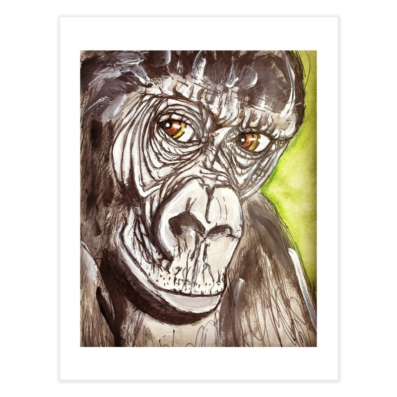 Gorilla Home Fine Art Print by AlmaT's Artist Shop