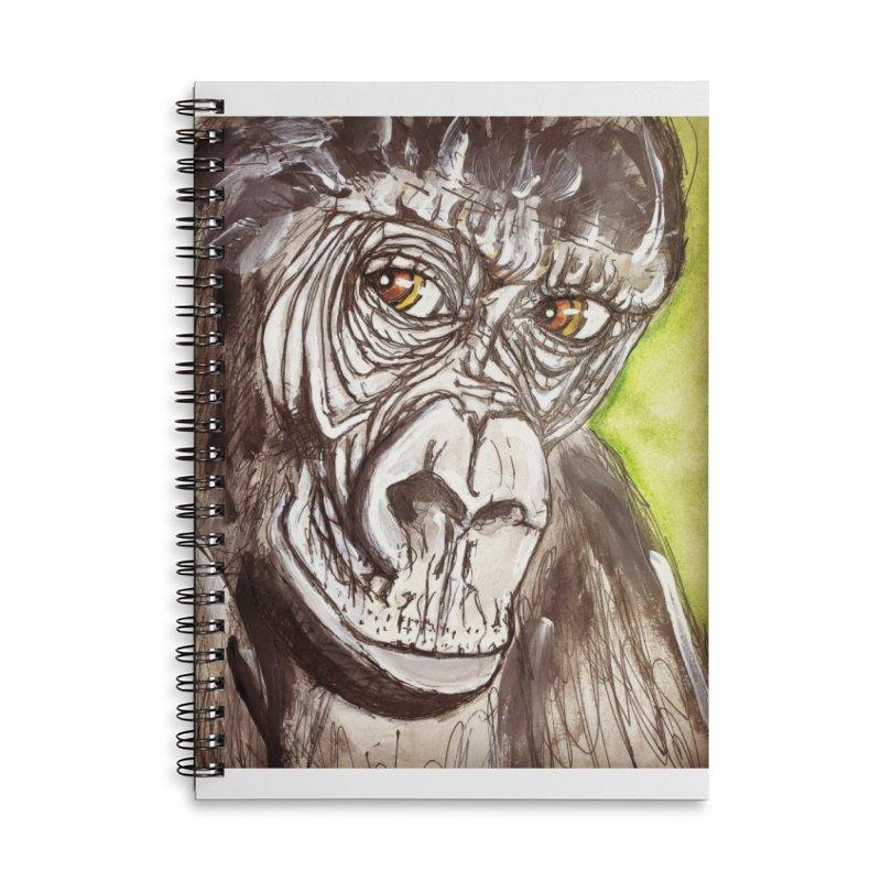 Gorilla Accessories Lined Spiral Notebook by AlmaT's Artist Shop
