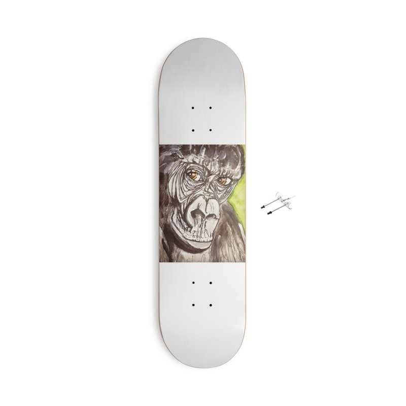 Gorilla Accessories With Hanging Hardware Skateboard by AlmaT's Artist Shop