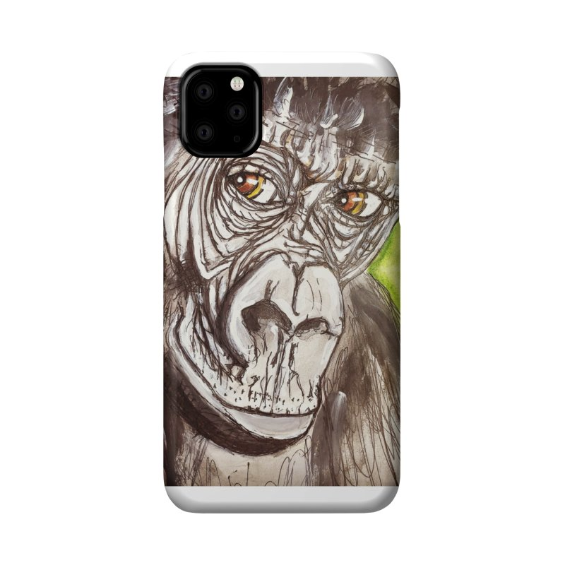 Gorilla Accessories Phone Case by AlmaT's Artist Shop