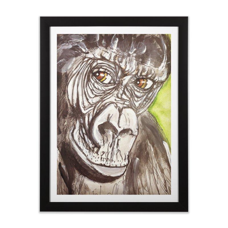 Gorilla Home Framed Fine Art Print by AlmaT's Artist Shop