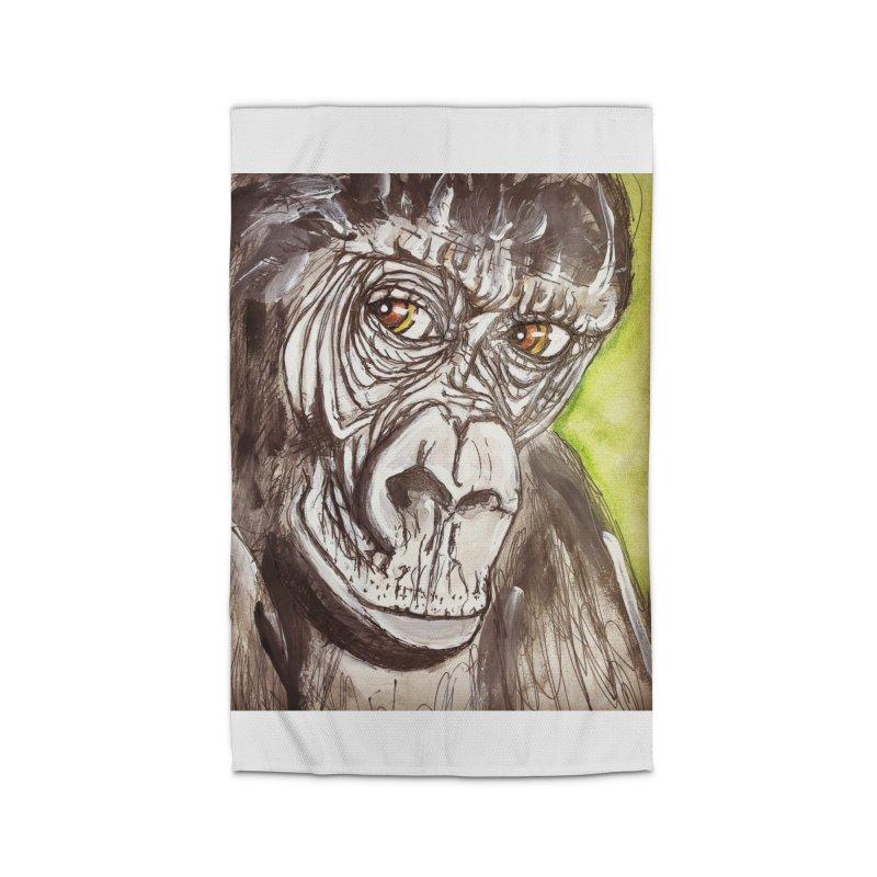 Gorilla Home Rug by AlmaT's Artist Shop
