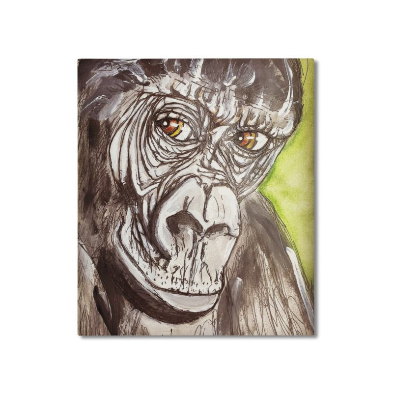 Gorilla Home Mounted Aluminum Print by AlmaT's Artist Shop