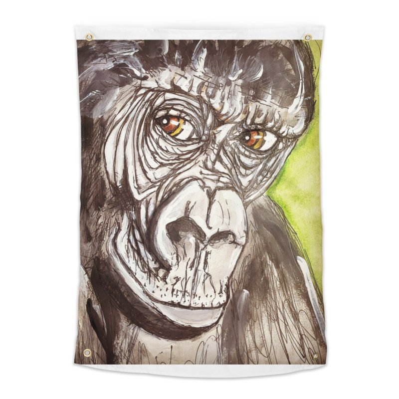 Gorilla Home Tapestry by AlmaT's Artist Shop