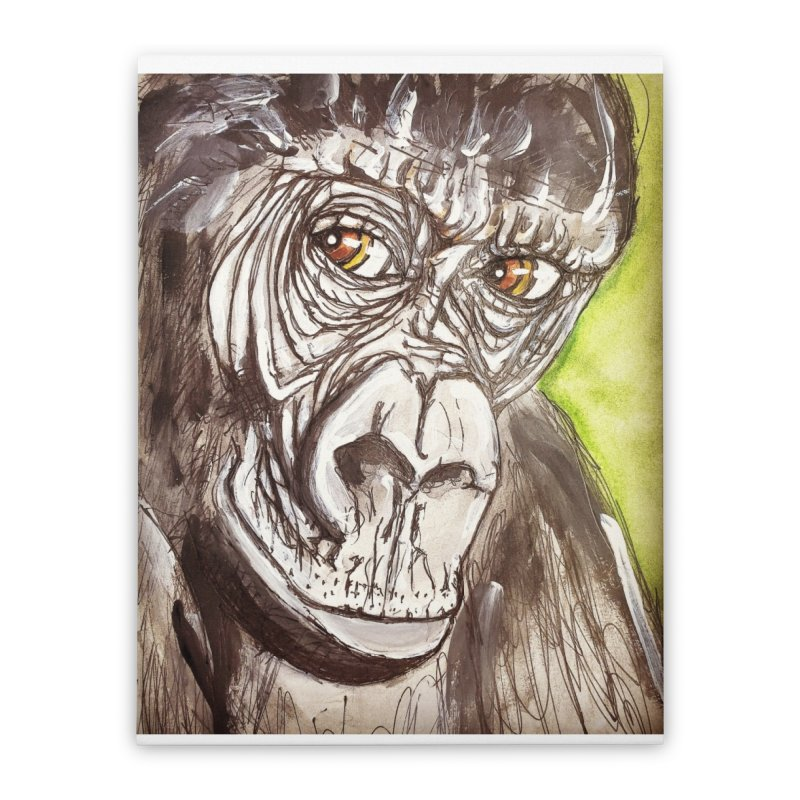Gorilla Home Stretched Canvas by AlmaT's Artist Shop