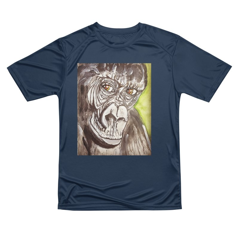 Gorilla Men's Performance T-Shirt by AlmaT's Artist Shop