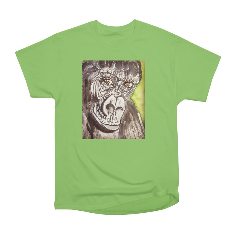 Gorilla Women's Heavyweight Unisex T-Shirt by AlmaT's Artist Shop