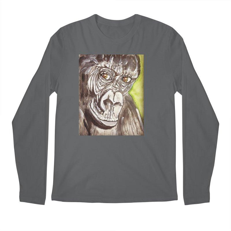 Gorilla Men's Regular Longsleeve T-Shirt by AlmaT's Artist Shop