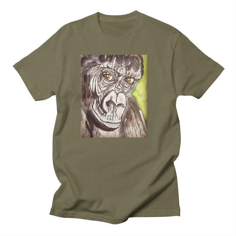 Gorilla Men's Regular T-Shirt by AlmaT's Artist Shop