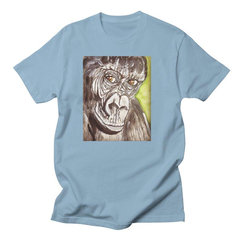 Gorilla Men's T-Shirt by AlmaT's Artist Shop