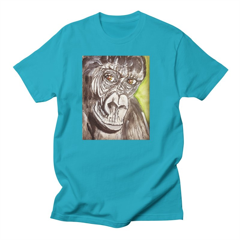 Gorilla Men's T-Shirt by AlmaT's Artist Shop