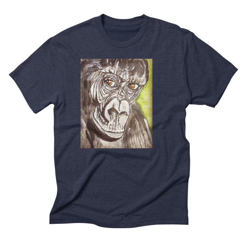 Gorilla Men's Triblend T-Shirt by AlmaT's Artist Shop