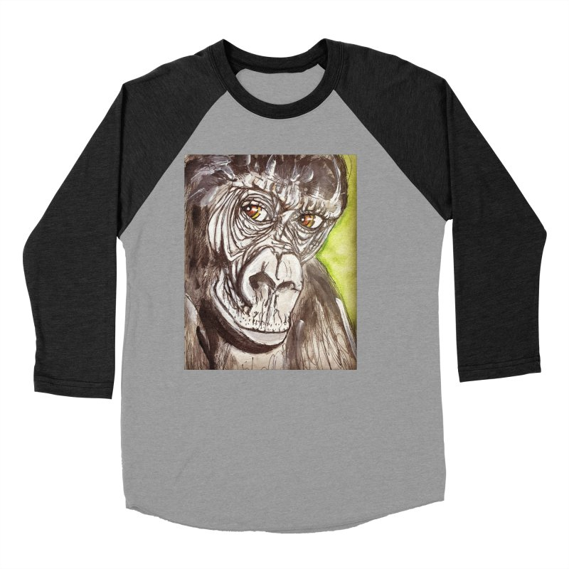 Gorilla Men's Baseball Triblend Longsleeve T-Shirt by AlmaT's Artist Shop