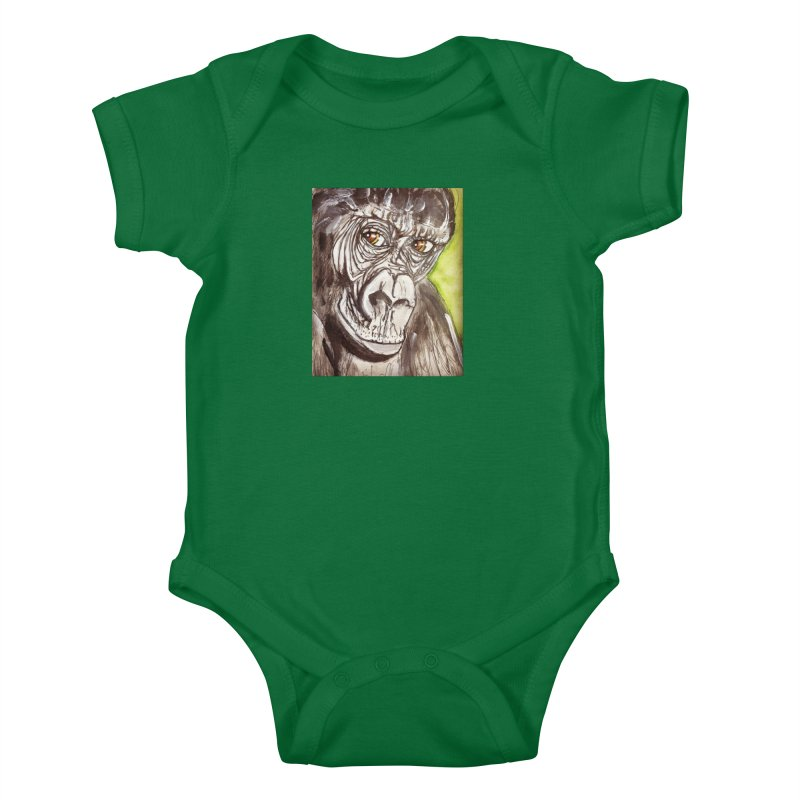 Gorilla Kids Baby Bodysuit by AlmaT's Artist Shop