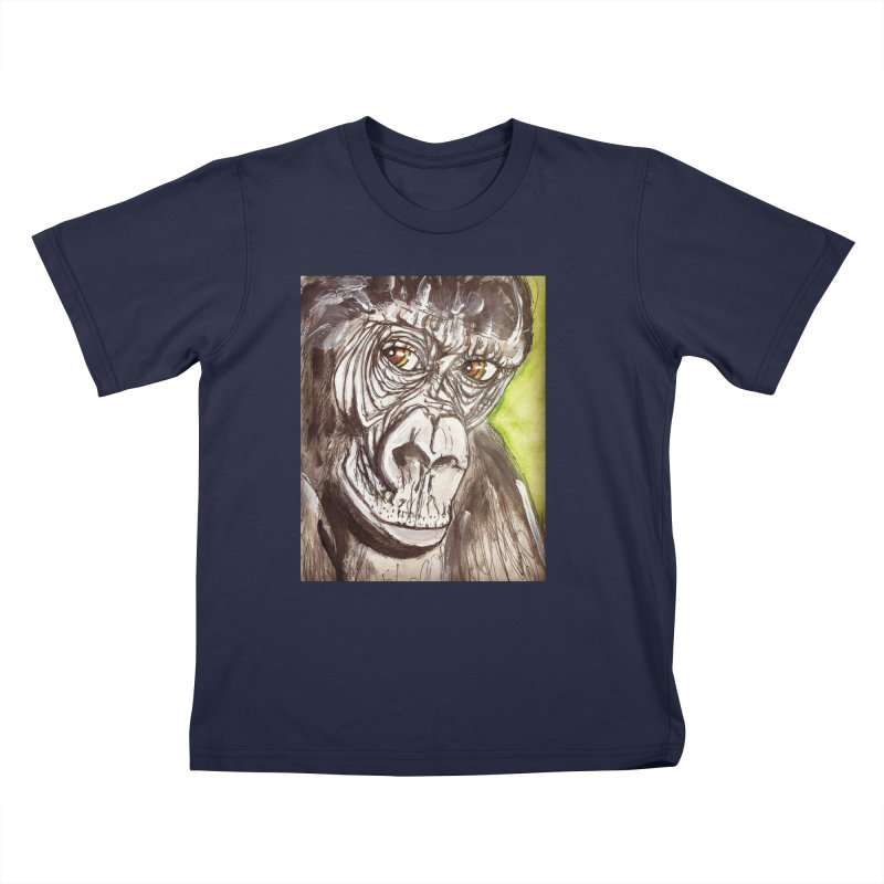Gorilla Kids T-Shirt by AlmaT's Artist Shop