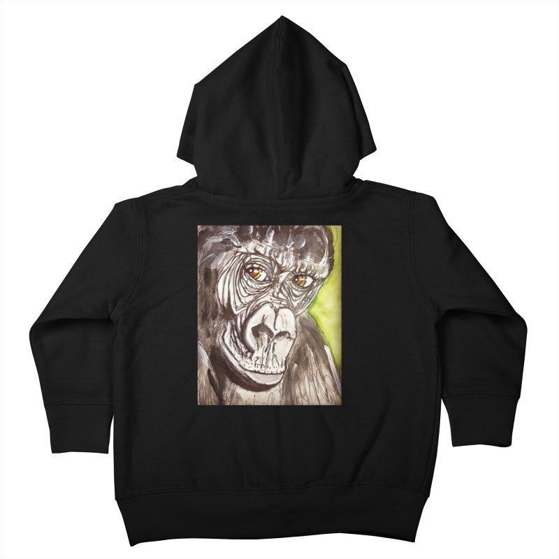Gorilla Kids Toddler Zip-Up Hoody by AlmaT's Artist Shop