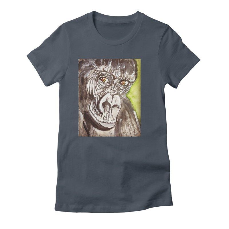 Gorilla Women's T-Shirt by AlmaT's Artist Shop
