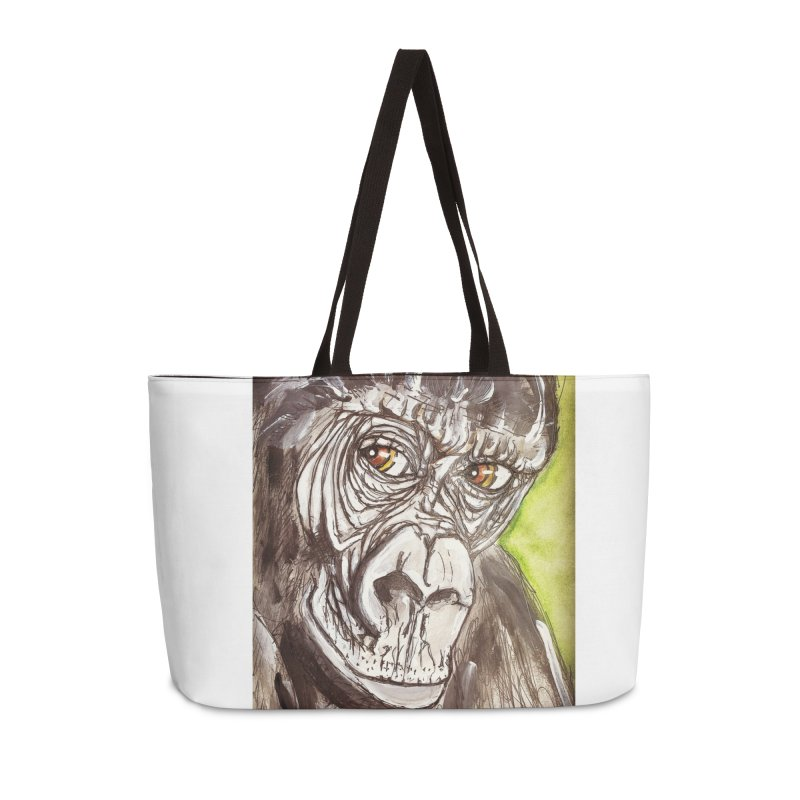 Gorilla Accessories Weekender Bag Bag by AlmaT's Artist Shop