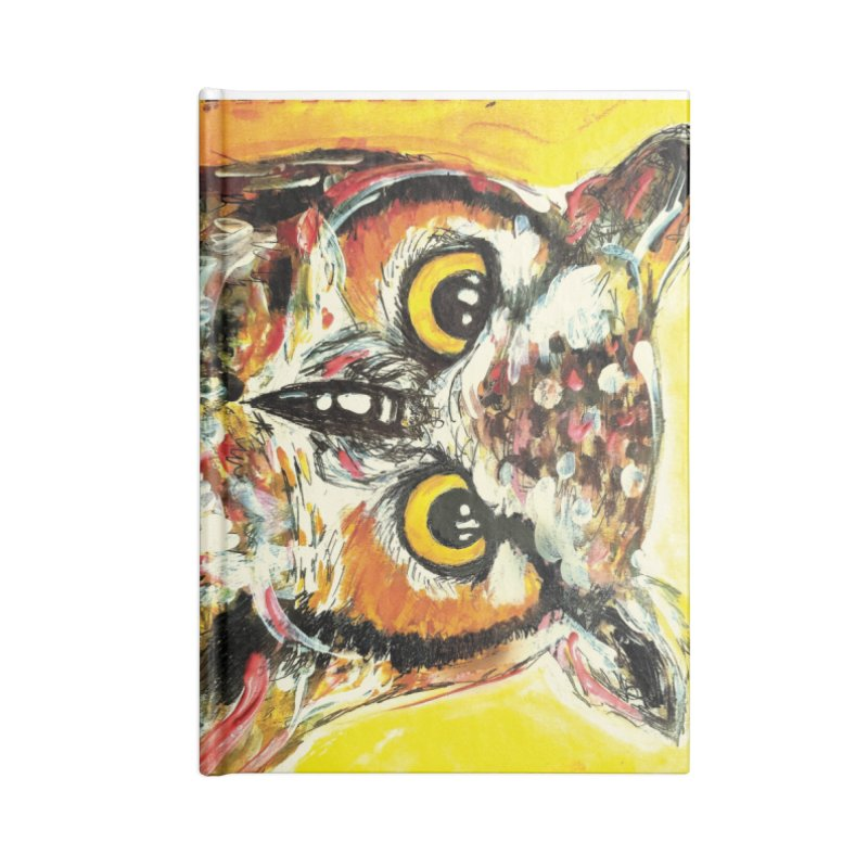 It's Owl Time! Accessories Lined Journal Notebook by AlmaT's Artist Shop