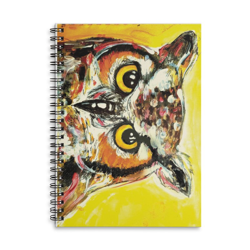 It's Owl Time! Accessories Lined Spiral Notebook by AlmaT's Artist Shop