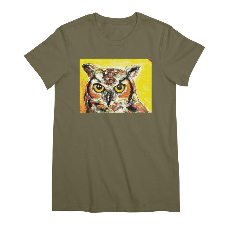 It's Owl Time! Women's Premium T-Shirt by AlmaT's Artist Shop
