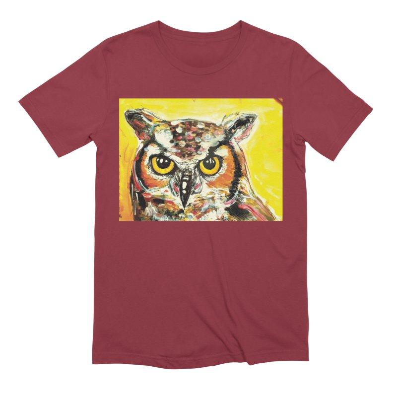 It's Owl Time! Men's Extra Soft T-Shirt by AlmaT's Artist Shop