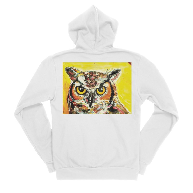 It's Owl Time! Women's Sponge Fleece Zip-Up Hoody by AlmaT's Artist Shop
