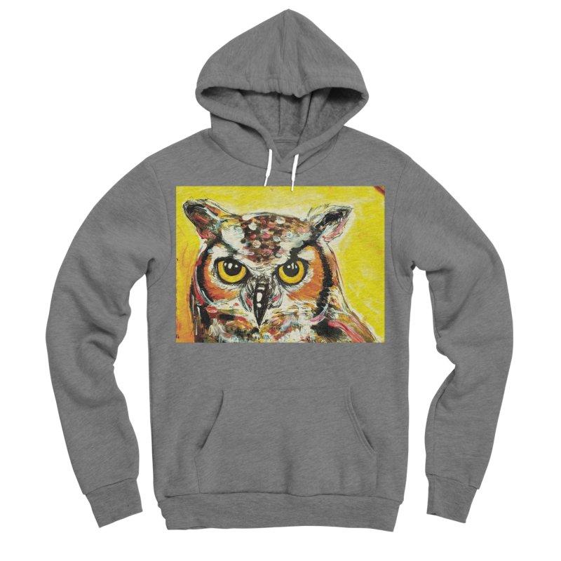 It's Owl Time! Women's Sponge Fleece Pullover Hoody by AlmaT's Artist Shop