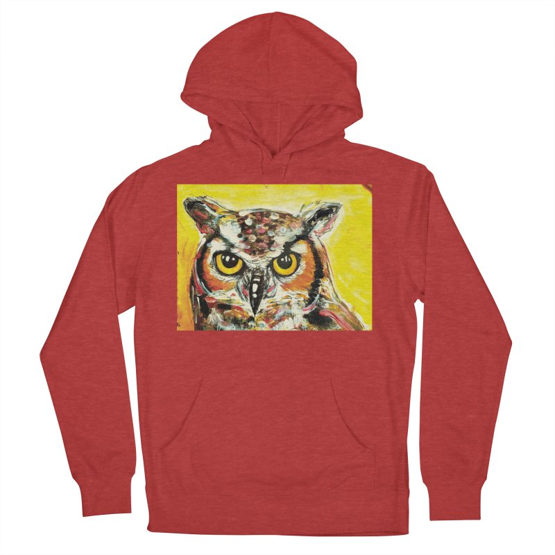 It's Owl Time! Women's French Terry Pullover Hoody by AlmaT's Artist Shop