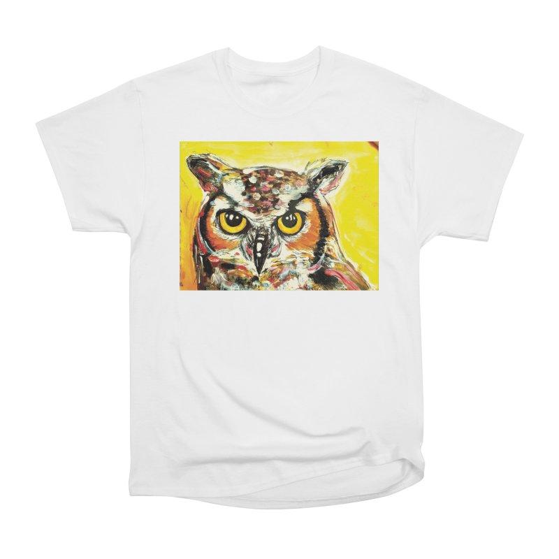 It's Owl Time! Men's Heavyweight T-Shirt by AlmaT's Artist Shop