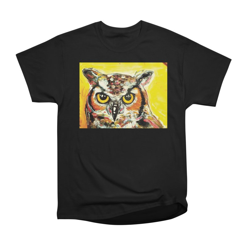 It's Owl Time! Women's Heavyweight Unisex T-Shirt by AlmaT's Artist Shop