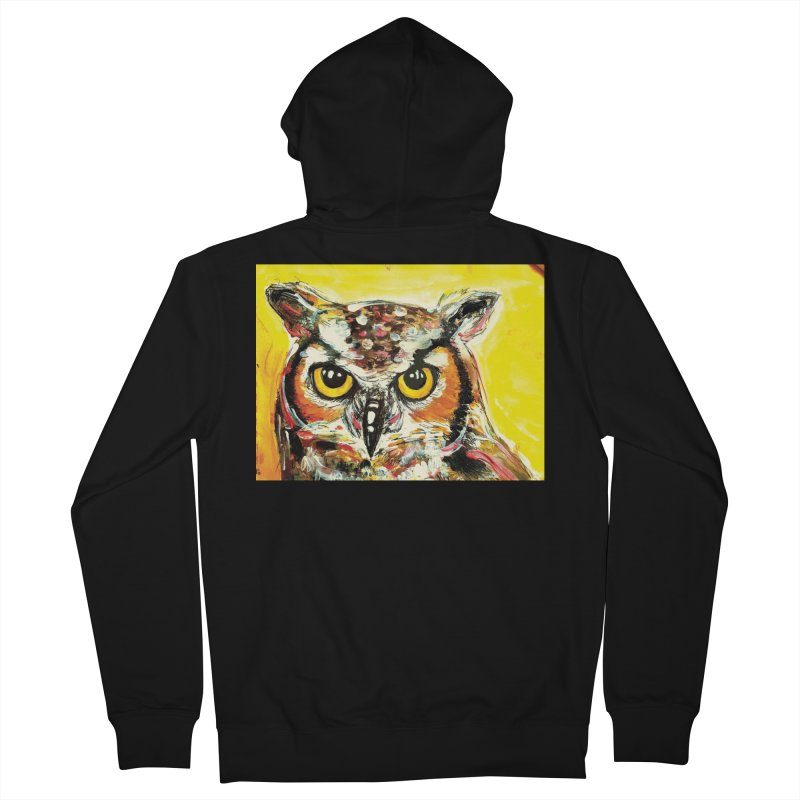 It's Owl Time! Women's French Terry Zip-Up Hoody by AlmaT's Artist Shop